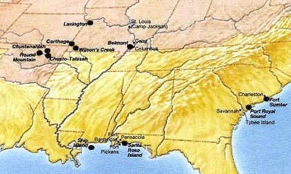 Civil War Battles Map For Kids Civil War Battles The